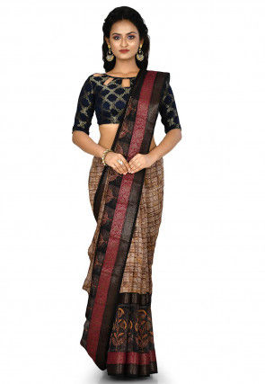Banarasi Pure Silk Handloom Saree in Beige