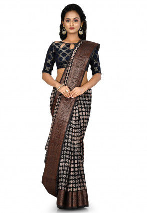 Banarasi Pure Silk Handloom Saree in Black