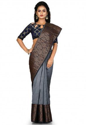 Banarasi Pure Silk Handloom Saree in Grey