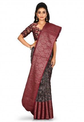 Banarasi Pure Silk Handloom Saree in Teal Blue
