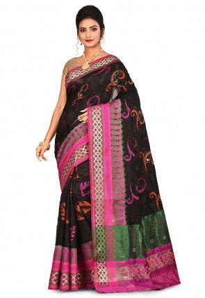 Banarasi Pure Silk Saree in Black