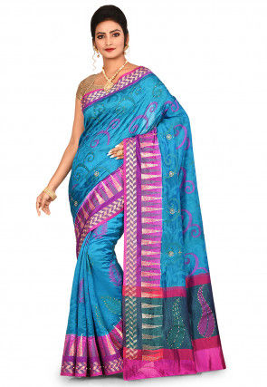 Banarasi Pure Silk Saree in Blue