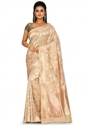 Banarasi Pure Silk Saree in Light Beige