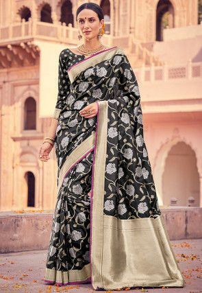 Banarasi Saree in Black