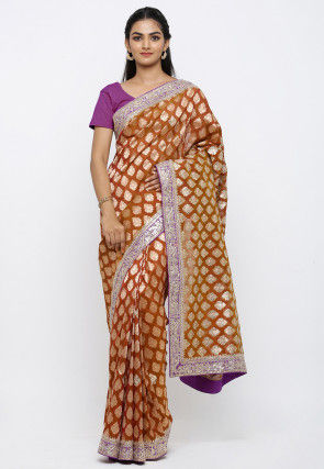 Banarasi Saree in Brown