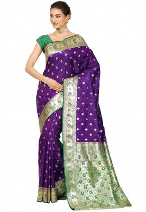 Banarasi Saree in Dark Purple