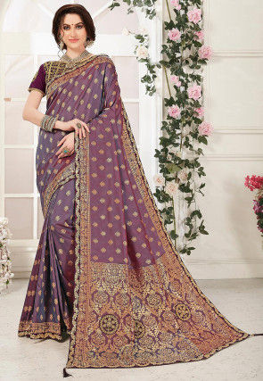 Banarasi Saree in Dusty Purple