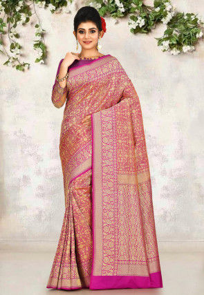 Banarasi Saree in Fuchsia