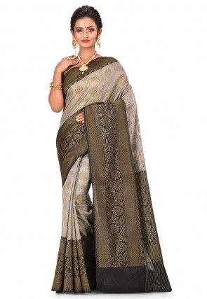 Banarasi Saree in Grey
