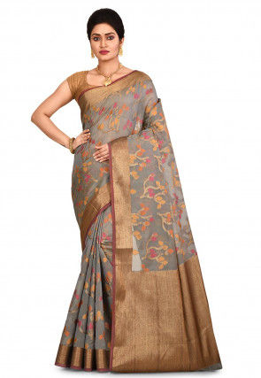 Banarasi Saree in Grey