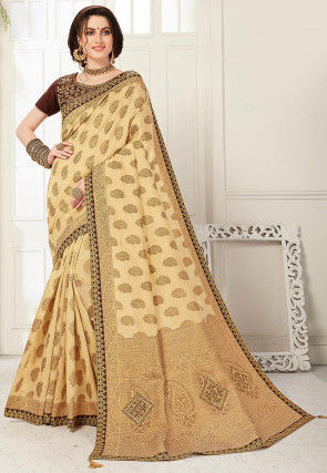 Banarasi Saree in Light Beige