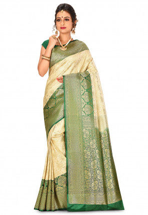 Banarasi Saree in Light Golden