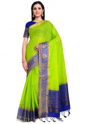 Banarasi Saree in Light Green