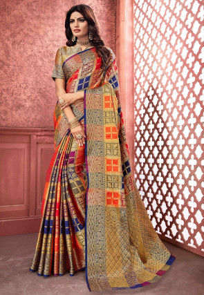 Banarasi Saree in Multicolor