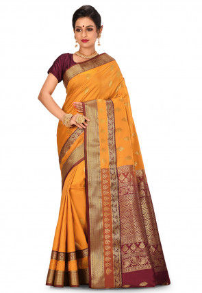 Banarasi Saree in Mustard