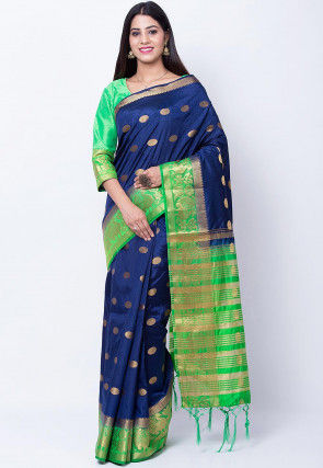 Banarasi Saree in Navy Blue