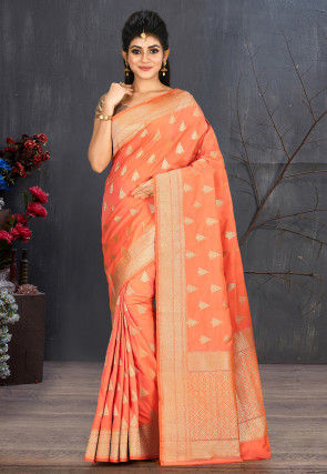 Banarasi Saree in Orange
