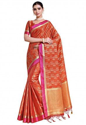Banarasi Saree in Orange