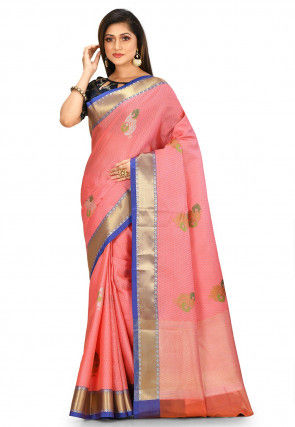 Banarasi Saree in Peach