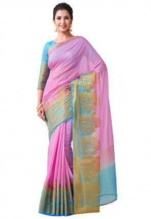 Banarasi Saree in Pink