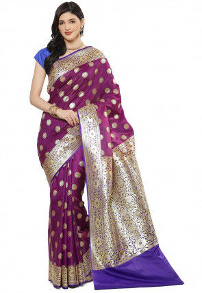 Banarasi Saree in Purple