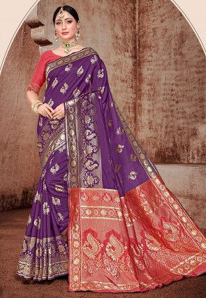 Banarasi Saree in Purple