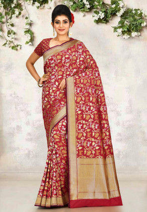 Banarasi Saree in Red