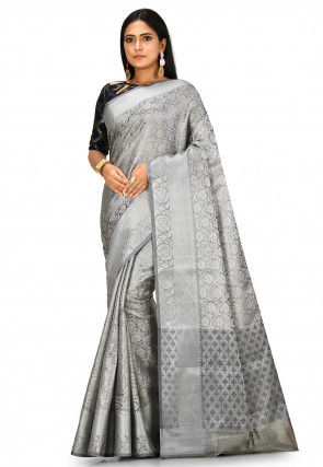 Banarasi Saree in Silver
