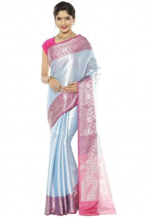Banarasi Saree in Sky Blue