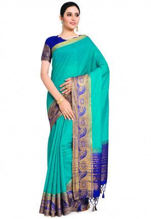 Banarasi Saree in Turquoise