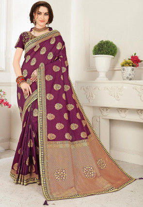 Banarasi Saree in Wine
