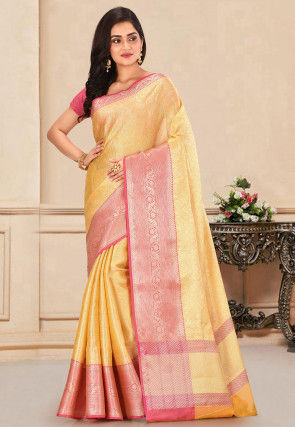 Banarasi Saree in Yellow