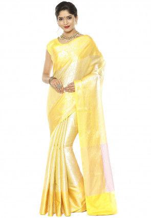 Banarasi Saree in Yellow