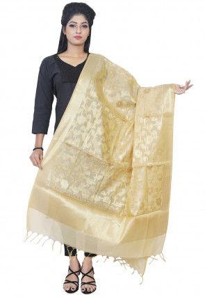 Banarasi Silk Dupatta in Beige