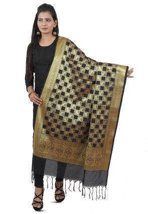 Banarasi Silk Dupatta in Black