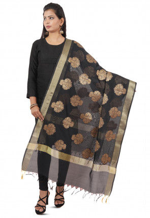 Banarasi Silk Dupatta in Black