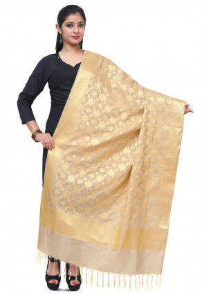 Banarasi Silk Dupatta in Light Beige
