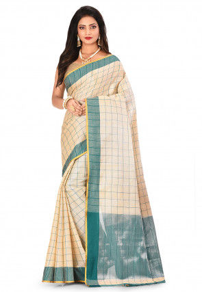 Banarasi Tissue Saree in Light Beige