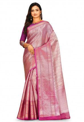Banarasi Tissue Saree in Old Rose