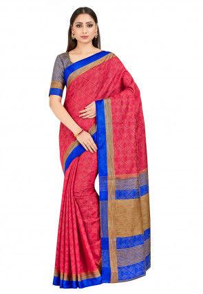 Banarasi Tussar Silk Saree in Pink
