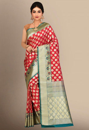 Banarasi Uppada Silk Saree in Red