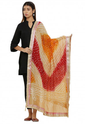 Bandhej Art Silk Dupatta in Multicolor