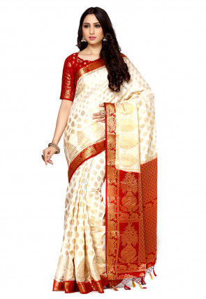Bangalore Silk Saree in Cream