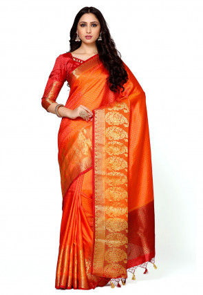 Bangalore Silk Saree in Orange