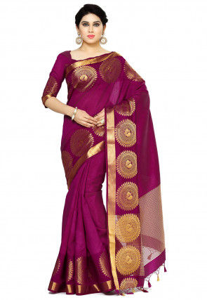 Bangalore Silk Saree in Purple