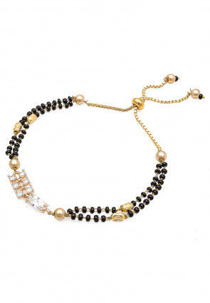Beaded Adjustable Mangalsutra Bracelet