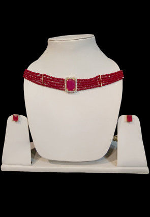 Beaded Choker Necklace Set