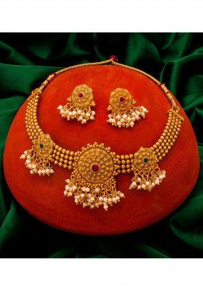 Beaded Choker Necklace Set