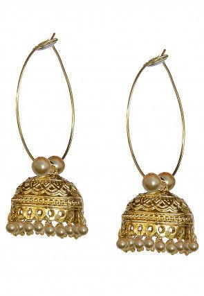 Beaded Hoops Earrings