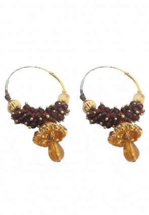 Beaded Hoops Earrings